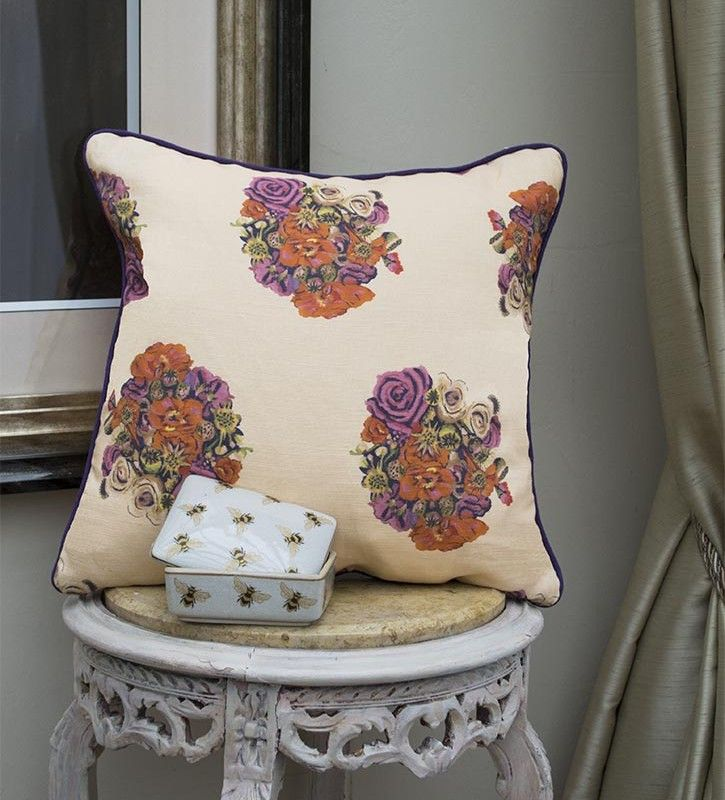 British Bouquet Cushion - Vintage Style Interior products by OccipintiOccipinti