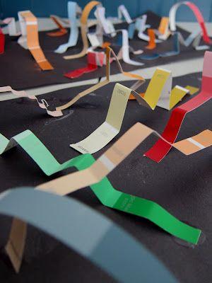 Joyfully Weary: 3D Paint Chip Art