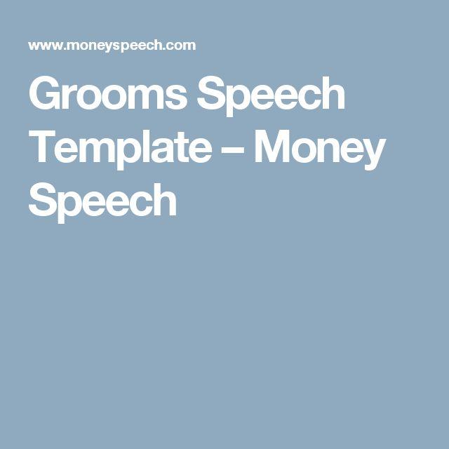 Grooms Speech Template – Money Speech