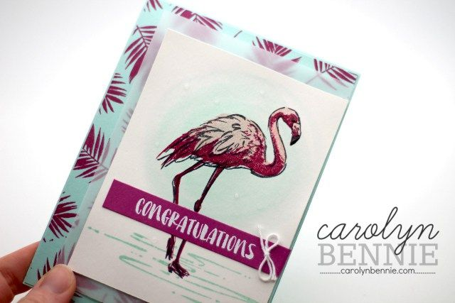 Fabulous Flamingo is an amazing new stamp set from the 2017/18 Stampin' Up! Annual Catalogue. See my video tutorial on my blog carolynbennie.com