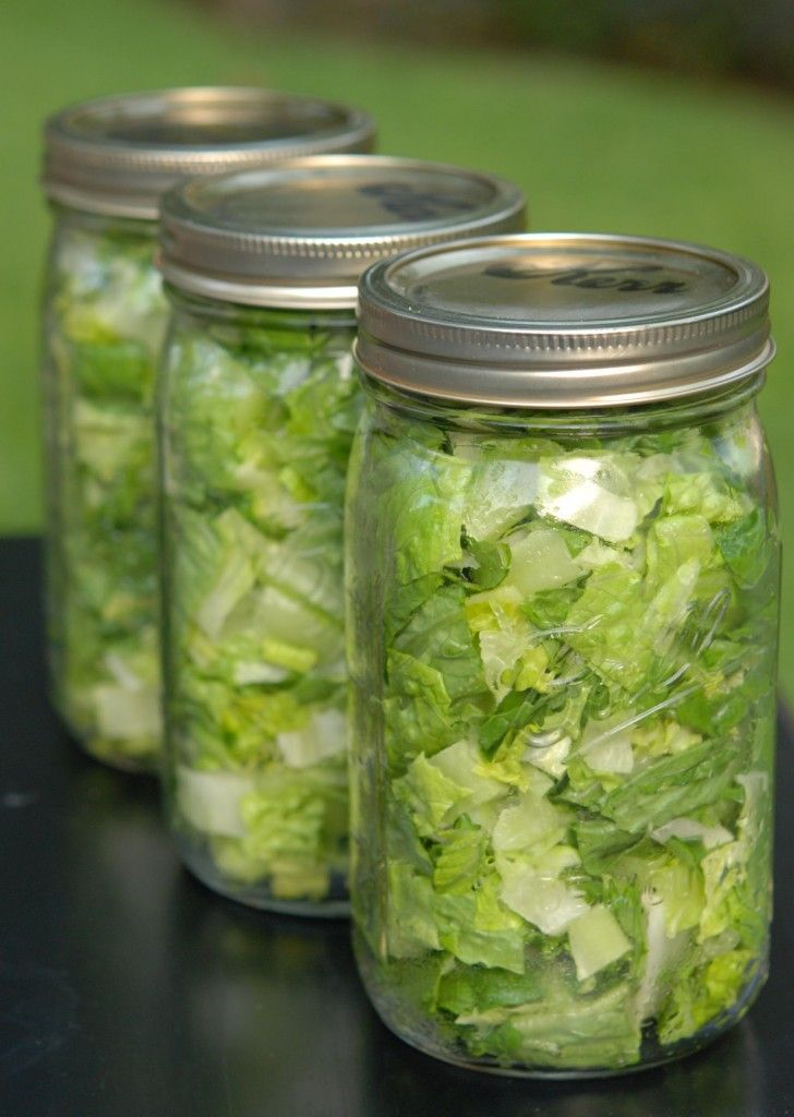 Im repinning this because....IT WORKS! My lettuce stays fresh for ever...and when I see it in my fridge... it makes me want to eat it...cant beat that!: Lettuce Salad, Fresh Salad, In A Jar, Mason Jar Salad, Mason Jars, Food Salad