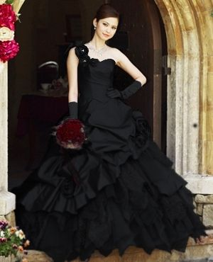 Wedding Dress Fantasy - Black Wedding Gown Available in Every Color 3, $995.00 (http://www.weddingdressfantasy.com/black-wedding-gown-available-in-every-color-3/)