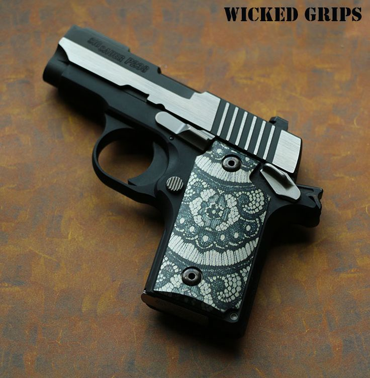 "SIG 238 CUSTOM GRIPS ""BLACK LACE"" - WICKED GRIPS"