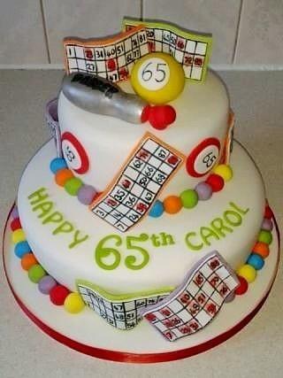 2 tiered bingo themed birthday cake  - Cake by T cAkEs