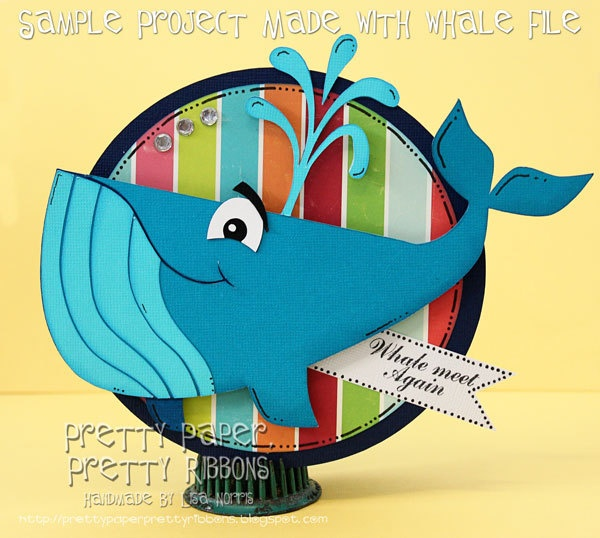 Card made with Whale File: Sea Life Cutting Files - .SVG, .DXF, .STUDIO Formats. $8.00, via Etsy.Cards Animal Whals, Pretty Ribbons, Silhouettes Portraitcameo, Paper Piece, Pretty Paper, Silhouettes Cameo, Cards Insperational, Cutting Files, Cut File