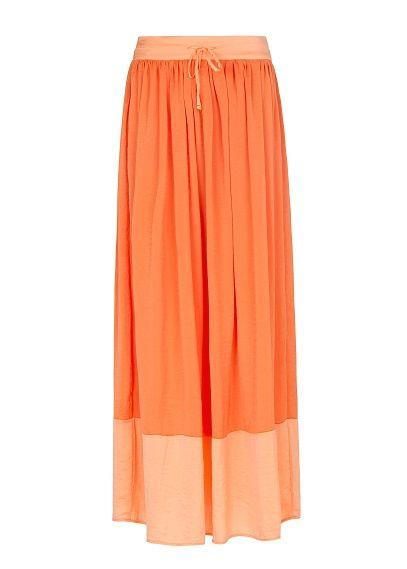MANGO - Two-tone long skirt