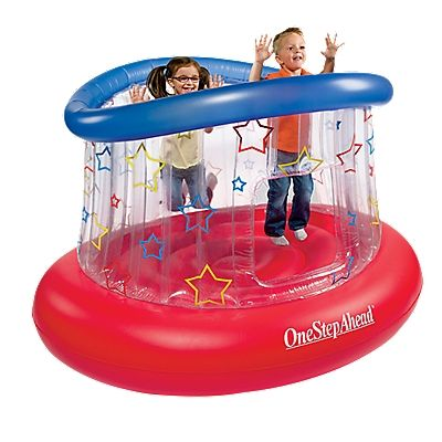 Bounce A Round, Kids Inflatable Bouncer - One Step Ahead Baby - perfect for my sensory seeking pre-schooler #BounceARound: Kids Bounce A Round, Step Ahead, Toy, Gift Ideas, Inflatable Bouncer, Fun, Baby, Kid Stuff, Bounce A Round Bouncer