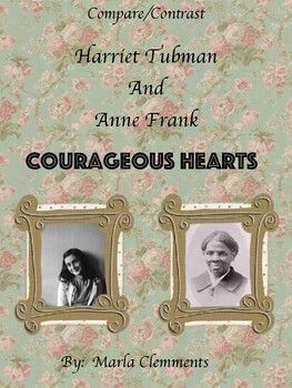 This is a great activity to complete after reading the biographies of Harriet Tubman and Anne Frank. After writing down all the important life-changing events for each courageous lady, students will write a 4 paragraph compare/contrast essay. This is a great activity for