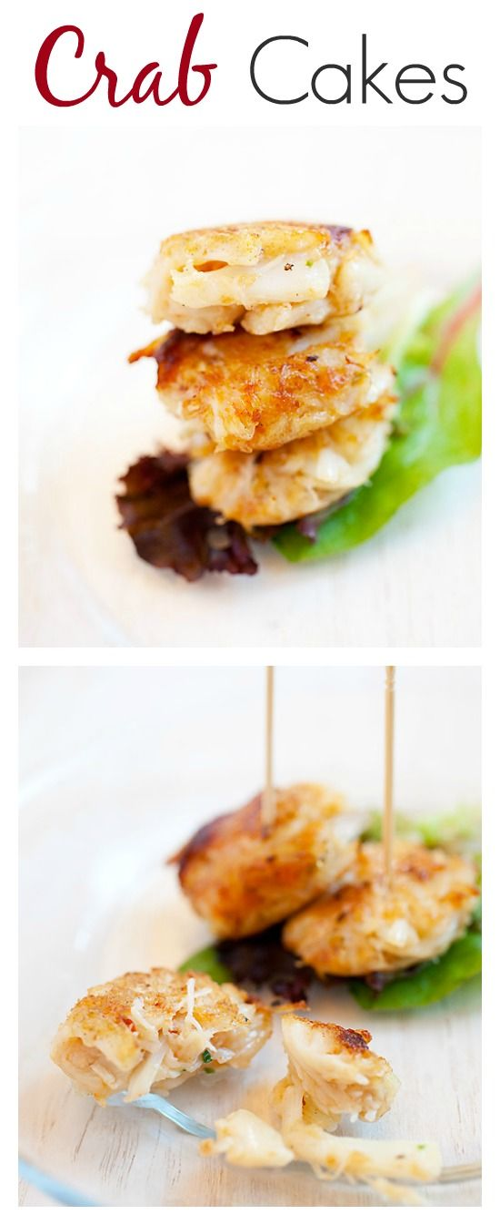 Mini Crab Cakes - easy and delicious crab cakes loaded with crab meat, perfect appetizers for parties or anytime of the year | rasamalaysia.com