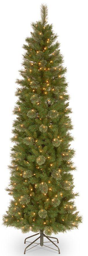 National Tree Company 6.5-ft. Pre-Lit Tacoma Pine Pencil Slim Artificial Christmas Tree