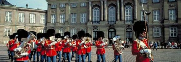 The Royal Guard protect Denmark and Her Majesty