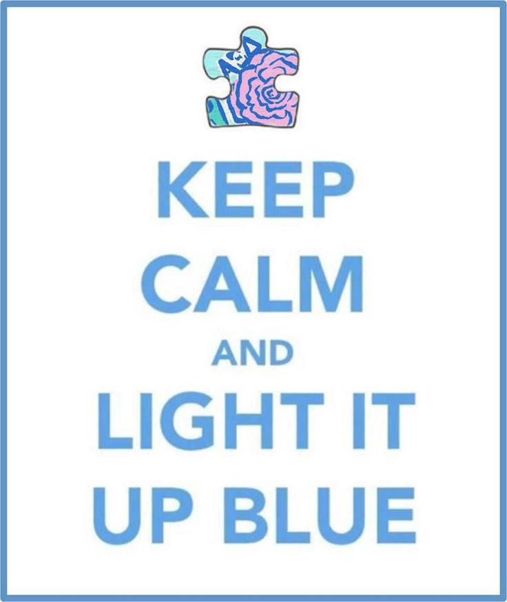 Next Monday, April 1st, begins Autism Awareness Month. April 2nd is Light It Up Blue Day. I invite you to turn a lamp or a porch light blue for the day. Several places carry blue light bulbs. More than just turning your light blue, pass the word around about autism support group meetings.  Learn about a child with autism, share the knowledge.