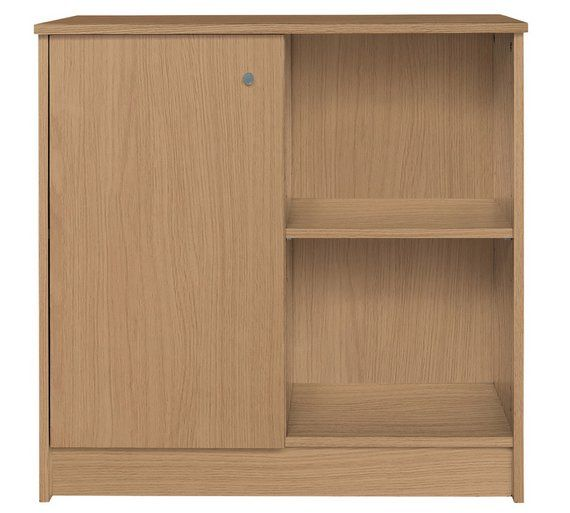 Buy HOME Calgary Storage Cupboard - Oak Effect at Argos.co.uk - Your Online Shop for Filing cabinets and office storage, Office furniture, Home and garden.