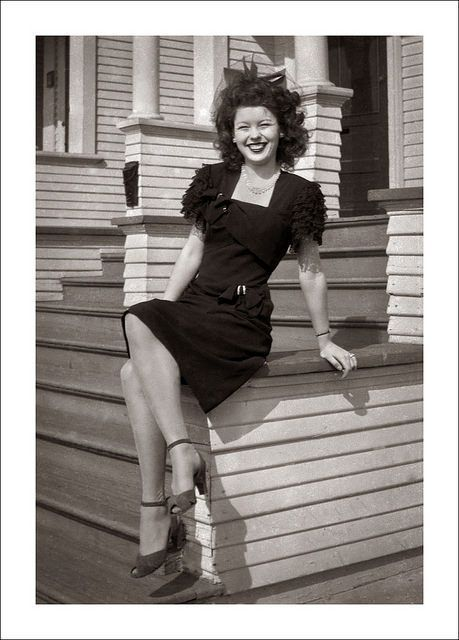 "Retro Revolution Where To Find Vintage Clothing In: 1940to1949: "" Pretty Lady Displaying Her 1940′s Fashion"