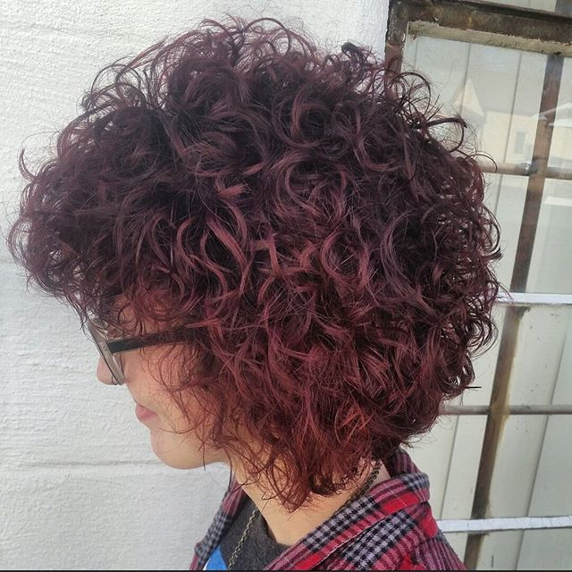 When journey of a perm, color, and cut is complete! So proud of this head of hair on @katelutz13 Perm done with True Systems, Color was created with self created Scruples True Integrity formulation, and topped off with a combination cut that was cut for her created curls.  Call On Broadway Guys and Dolls to schedule your appointment with 812-424-5651. #curlsfordays #perms #modernsalon #hairguru #instahair #scruples #trueintegrity #90sstyle #texturedhair #coloredhair #redhair #hairjunkies