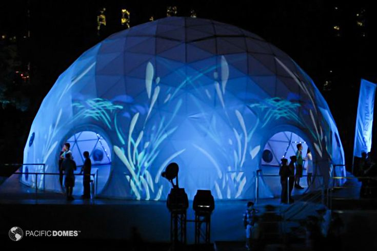 Outstanding Projection Dome Tents and Projection theaters by Pacific Domes of Oregon! Project amazing colors and patterns, branding and other marketing messages visible inside and out!  #Dome #eventtent #Events #Domes