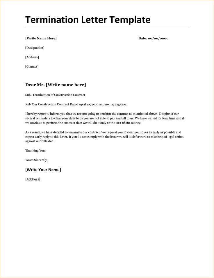 contract agreement template templateg letter cancellation