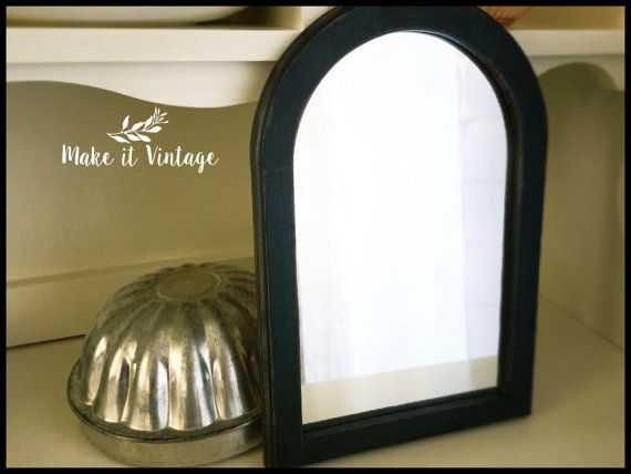 Vintage wooden arch mirror  refinished distressed by MakeitVintge
