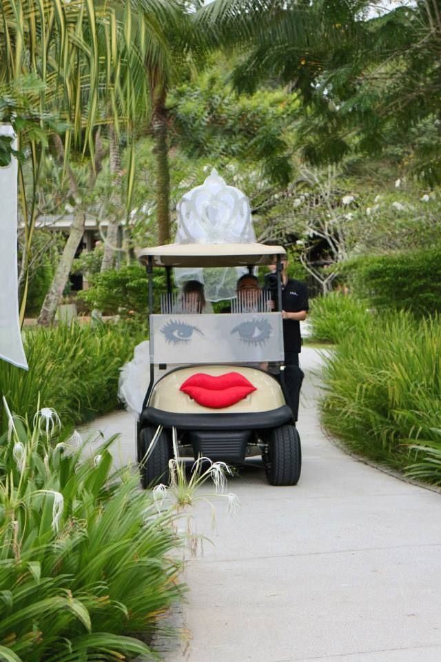 Bridal car with Tiara