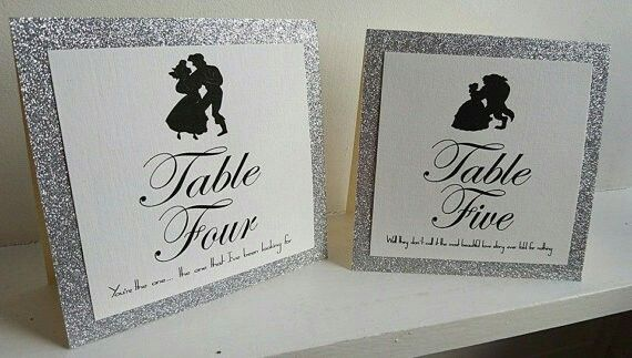Disney table numbers