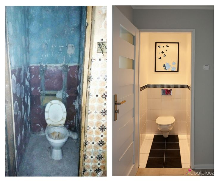 Projekt i remonta mieszkania w bloku. Przeznaczenie - flip. Przed - po. Before - after.