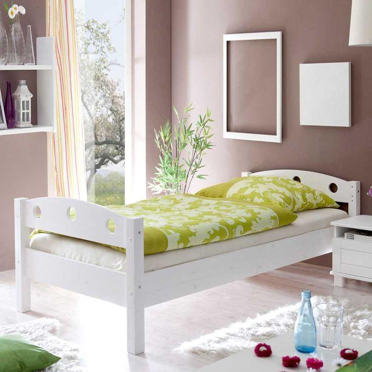 Futonbett in Weiß Einzelbett 90x200 Jetzt bestellen unter: http://www.woonio.de/p/futonbett-in-weiss-einzelbett-90x200/