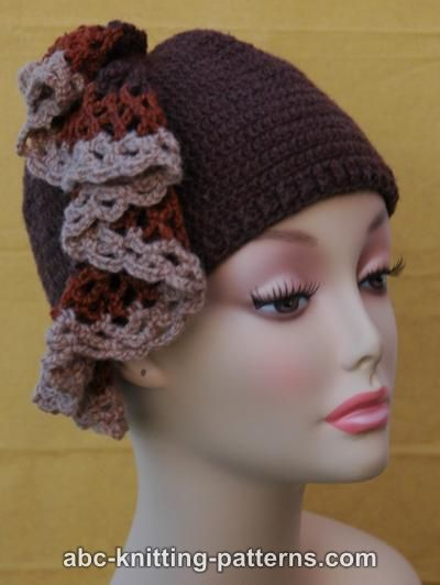ABC Knitting Patterns - Hat with Ruffle