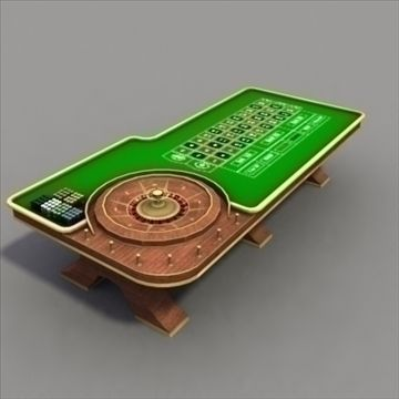 RouletteTable_3Dmodel 3D Model-   ............High quality modern style roulette table, with chips. Range of formats............ - #3D_model #Other Furniture