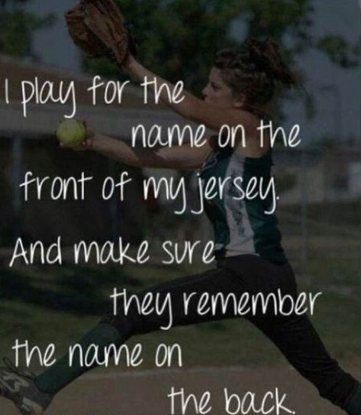 People always remember me when my name is on the back.