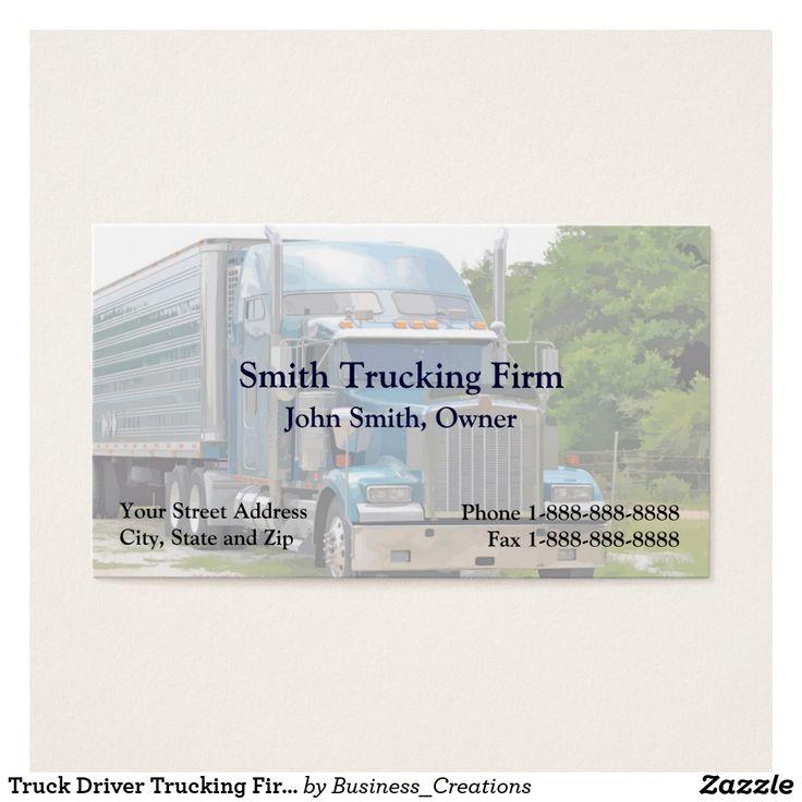 15 best Trucker Trucking Business Cards images on Pinterest