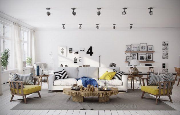 19 au ergew hnliche skandinavische wohnzimmer in die sie. Black Bedroom Furniture Sets. Home Design Ideas