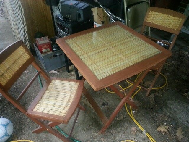 Bamboo Table and Chair set