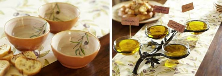 Olive Oil infused with herbs  http://www.potterybarn.com/design-studio/recipies/olive_oil_tasting_herb_or_spiceinfused_olive_oil.html#