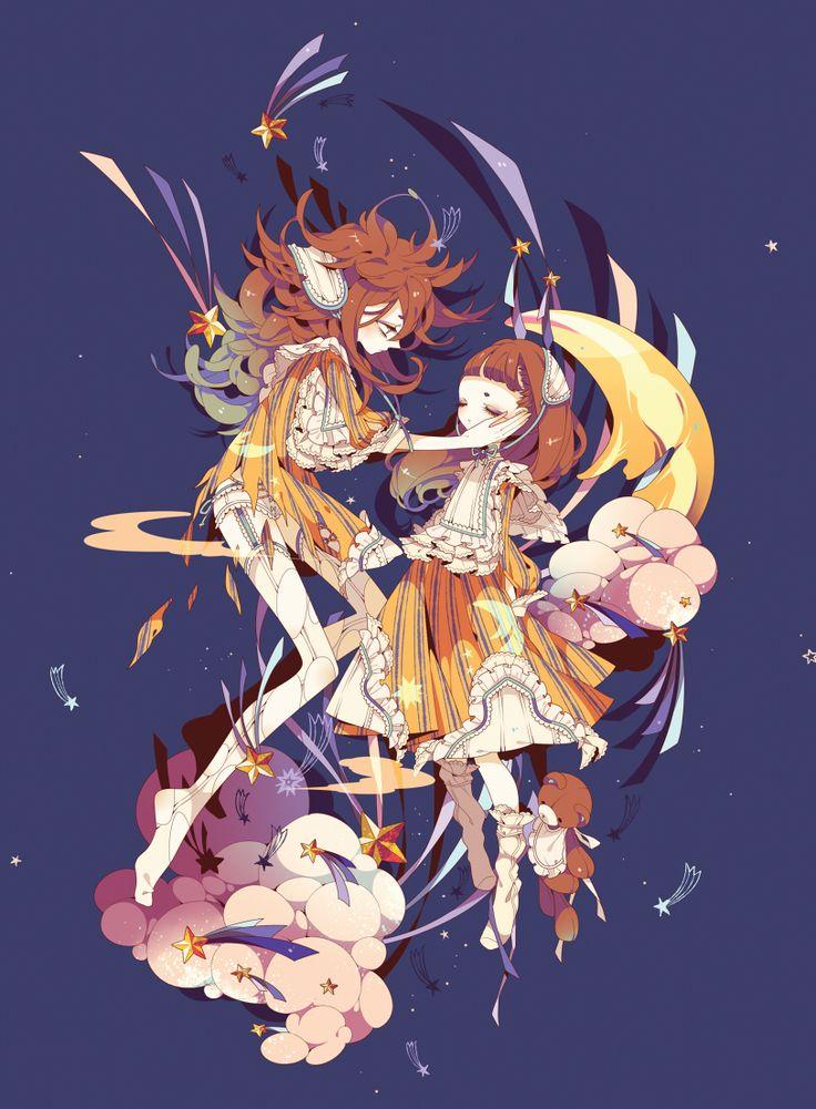 Character Design Zerochan : Shikimi orange outfit stuffed bear shooting stars