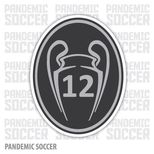 Real Madrid Champions League 12 Vinyl Sticker Decal