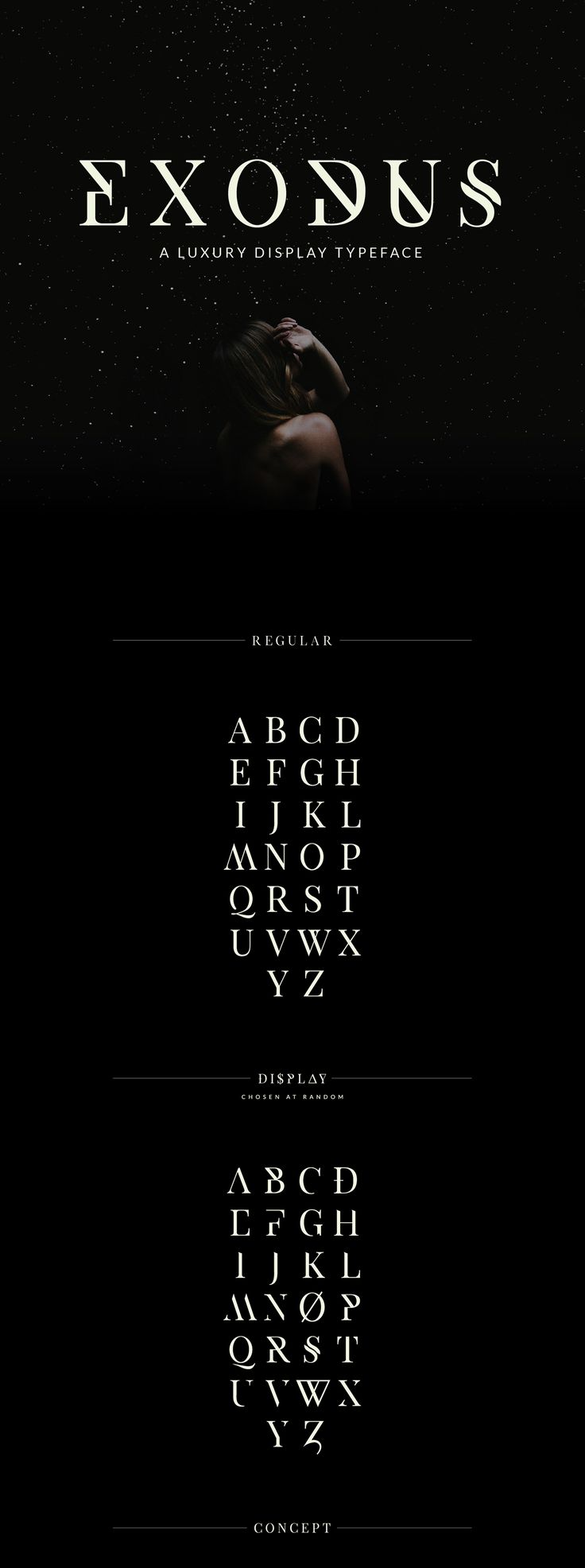 Exodus – Free Display Serif Font Poster A