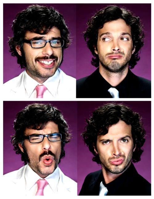 flight of the conchords. Bret McKenzie and Jemaine Clement.