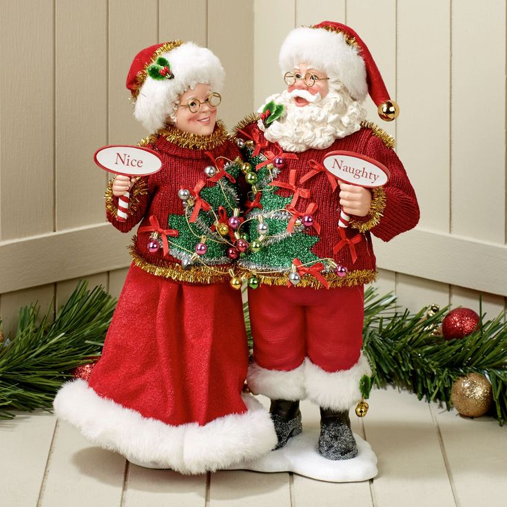 Sweater Set Clothtique Santa Couple Figurine