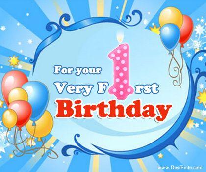 Happy 1st Birthday Richie Love Auntie Karen Uncle Richie Happy 1st Birthday Wishes