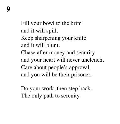 9 Tao Te Ching - Lao Tse (Lao Tzu)