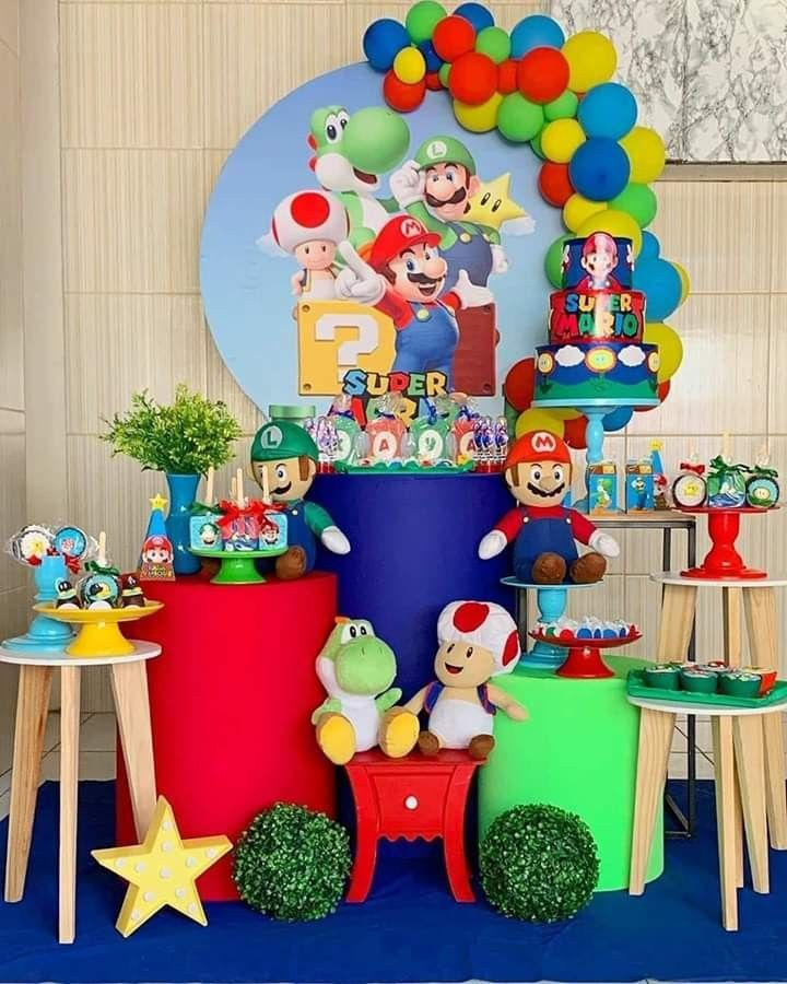 Pin By Rosita Agreda Reyes On Decoracion De Fiestas Super Mario Bros Party Mario Bros Party Super Mario Birthday Party