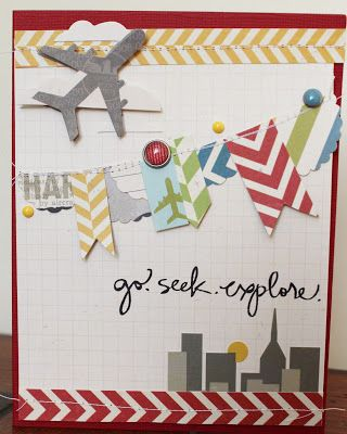 Live The Moment: Simple Stories Urban Traveler layout + card