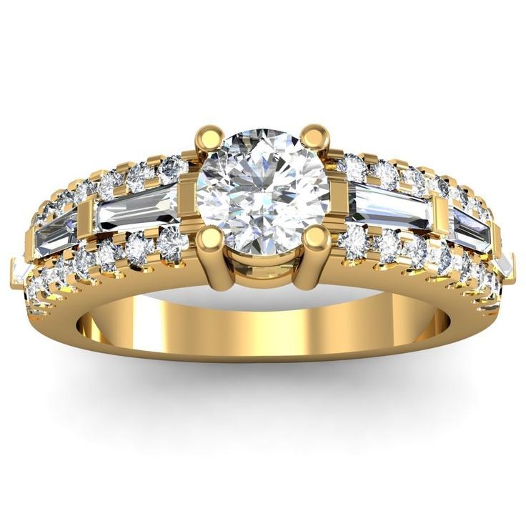 34 Grams Unique Diamond Set: 17 Best Images About Baguette Shaped Rings On Pinterest