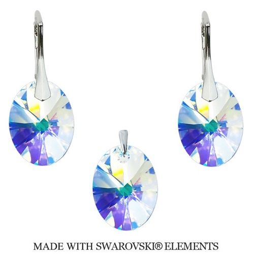 Swarovski Elements set Oval AB 12 mm Divine Jewellery eshop