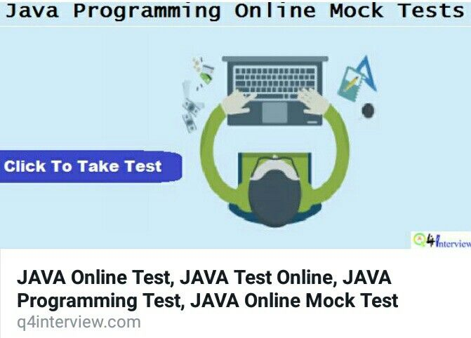 Examine Your Level With Latest JAVA Programming Online Test for Companies Written Test, Competitive and Entrance Examination. Take JAVA Mock Test and JAVA Output Aptitude Questions and Answers http://q4interview.com/test_topics.php?t=34  Some More Online Mock Test: ======================= C Programming:  http://q4interview.com/test_topics.php?t=11  C++ Programming: http://q4interview.com/test_topics.php?t=12  Data Structures: http://q4interview.com/test_topics.php?t=13  Operating System…