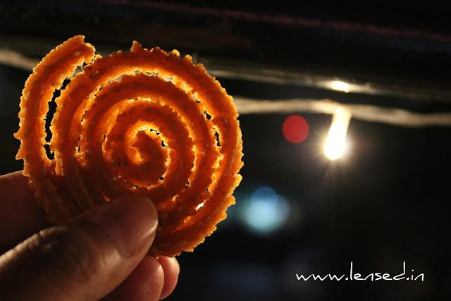 Chakali ~ Lensed  Chakali is famous spicy food item commonly prepared in all Maharashtrian families during Diwali festive season. They made out of dry pulses flour mixed with different spices and then oil fried.