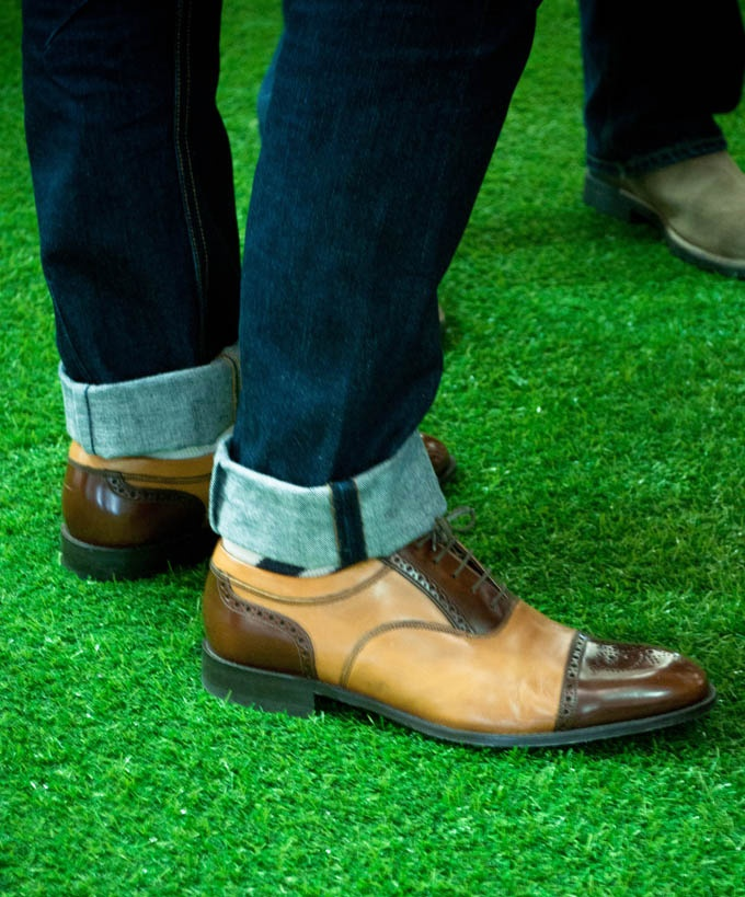 Two tone brogues: two tone shoes are a statement and can easily be paired with your favourite jeans.