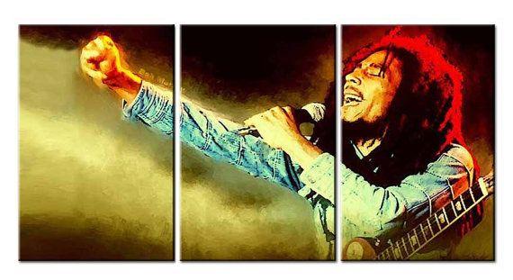 Emmanuelgift Canvas Wall Art canvas print pop art Bob Marley