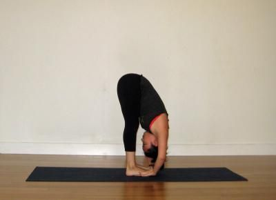 3 pada hasthasana standing forward bend or hand to foot