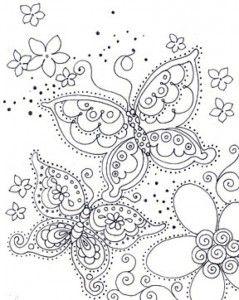 Dibujos para colorear mandala mariposas